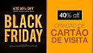 Black Friday 2016 na Zeroarts - 40% de desconto para Cartão de Visita