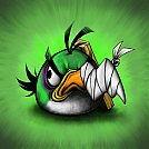Green Angry Bird - by Scooterek