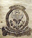 Animado Crest 34 Divisão acampamento Cody, no Novo México, - Newman Photo -1918