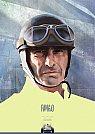 Juan Manuel Fangio - Arte Final - Ilustração por Piotr Buczkowski