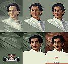 Ayrton Senna - Processo de criação - Ilustração por Piotr Buczkowski