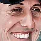 Michael Schumacher - Arte Final, detalhes - Ilustração por Piotr Buczkowski