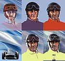 Juan Manuel Fangio - Processo de criação - Ilustração por Piotr Buczkowski