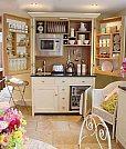 Soluções criativas para ganhar design e espaço em seus móveis - Cozinha no armário