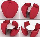 Soluções criativas para ganhar design e espaço em seus móveis - Mesa de centro surpresa