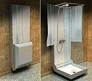Soluções criativas para ganhar design e espaço em seus móveis - Box para banho montável