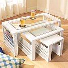 Soluções criativas para ganhar design e espaço em seus móveis - Mesa de centro replicante