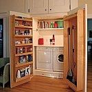Soluções criativas para ganhar design e espaço em seus móveis - Área de serviço embutida