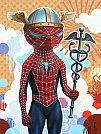 Modern Myth: Spiderman x Hermes por Tim Maclean