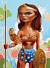 Modern Myth: Wonder Woman x Athena por Tim Maclean