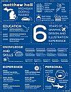 Modelos de currículos criativos usando infográficos - 22