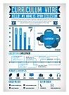 Modelos de currículos criativos usando infográficos - 09