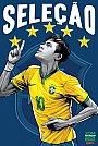 ESPN - Pôster da seleção do Brasil vetorial por Cristiano Siqueira - Copa do Mundo Fifa - Brasil 2014
