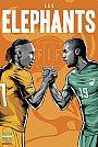 ESPN - Pôster da seleção da Costa do Marfim vetorial por Cristiano Siqueira - Copa do Mundo Fifa - Brasil 2014