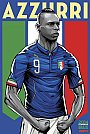 ESPN - Pôster da seleção d Itália vetorial por Cristiano Siqueira - Copa do Mundo Fifa - Brasil 2014