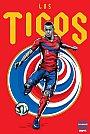 ESPN - Pôster da seleção da Costa Rica vetorial por Cristiano Siqueira - Copa do Mundo Fifa - Brasil 2014