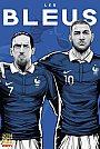 ESPN - Pôster da seleção da França vetorial por Cristiano Siqueira - Copa do Mundo Fifa - Brasil 2014