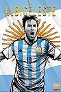 ESPN - Pôster da seleção da Argentina vetorial por Cristiano Siqueira - Copa do Mundo Fifa - Brasil 2014