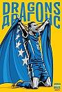 ESPN - Pôster da seleção da Bósnia vetorial por Cristiano Siqueira - Copa do Mundo Fifa - Brasil 2014