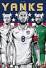 ESPN - Pôster da seleção dos Estados Unidos vetorial por Cristiano Siqueira - Copa do Mundo Fifa - Brasil 2014