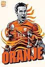 ESPN - Pôster da seleção da Holanda vetorial por Cristiano Siqueira - Copa do Mundo Fifa - Brasil 2014
