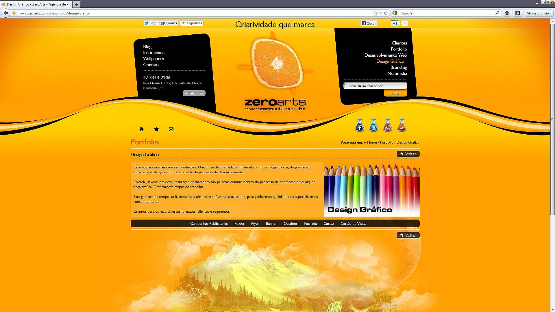 Lançamento do novo site da ZeroArts - Zeroarts - Agência de ...