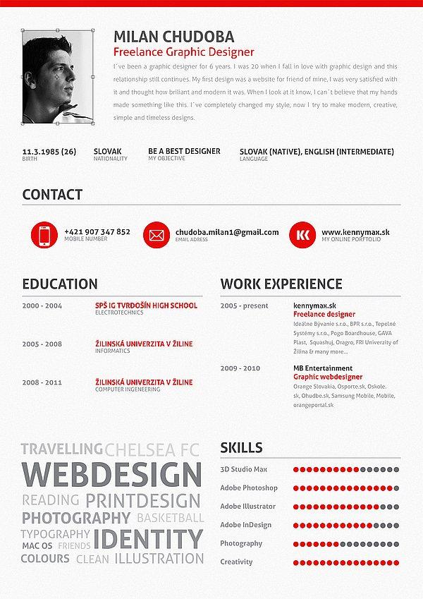 Design e criatividade 2 modelos de curr 237 culos criativos usando