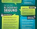 Infográfico Dicas do Blogueiro Seguro, material sobre boas práticas e dicas de segurança para blogs e postagens
