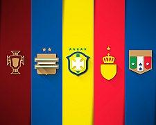 Design minimalista dos brasões das seleções da Copa do Mundo Fifa - Brasil 2014