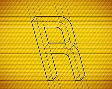 Tipografia - Formas impossíveis na fonte Frustro criada pelo designer Martzi Hegedus