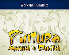 Workshop gratuito de pintura manual e digital em Blumenau / SC