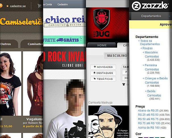 4 sites top para camisetas com design estampado em suas malhas