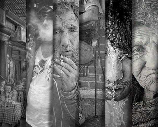 Paul Cadden faz obras hiper-realistas usando lápis e papel