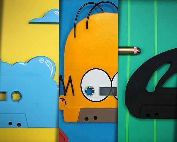 Benoit Jammes é o responsável por essas peças criativas utilizando fita cassete