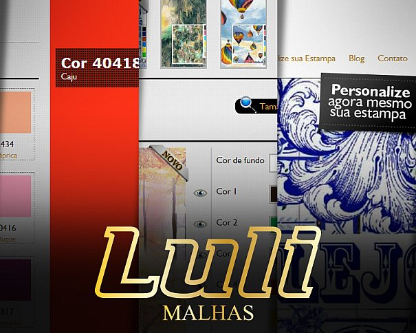 Novo website da Luli Malhas para o setor de malha em rolo se destaca pela ferramenta de personalização de estampas