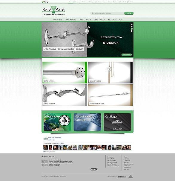 Novo site da Bella Arte conta com projeto exclusivo com design responsivo