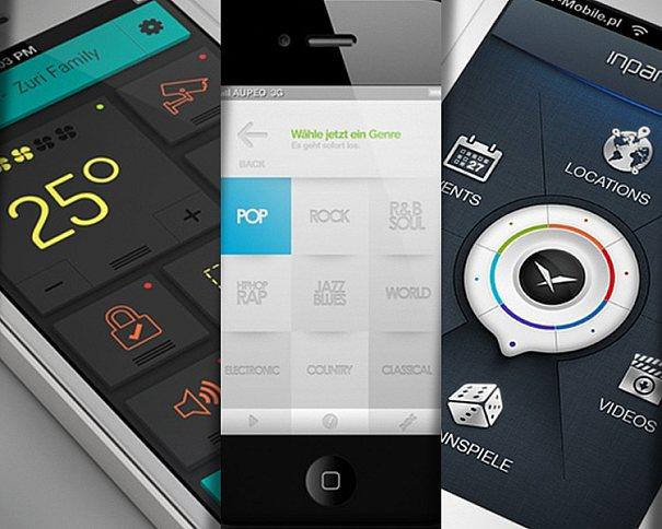 Inspiração para criação em design de iterfaces mobile