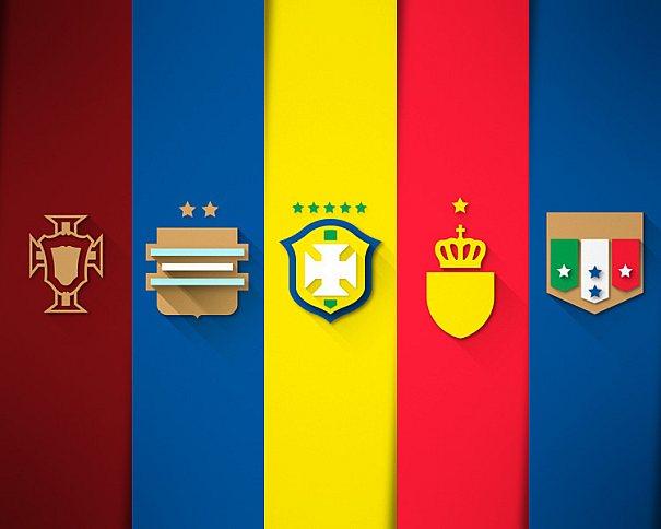 Leandro Urban é responsável pelo projeto gráfico Fifa World Cup Brazil 2014 | Flat Design Shields