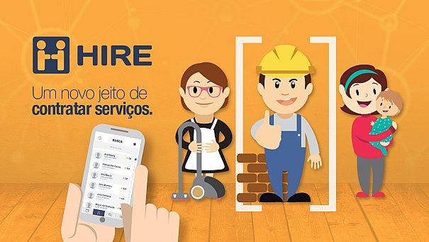 HIRE, o aplicativo para contratar e oferecer produtos e serviços