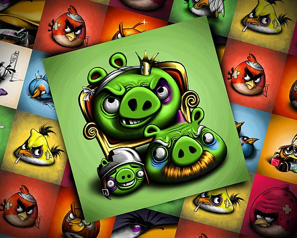 Angry Birds Fan Art produzido por Sylwia W. aka Scooterek