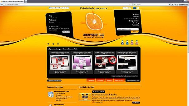 Nova entrada do site, melhor distribuida e seguindo nova identidade.