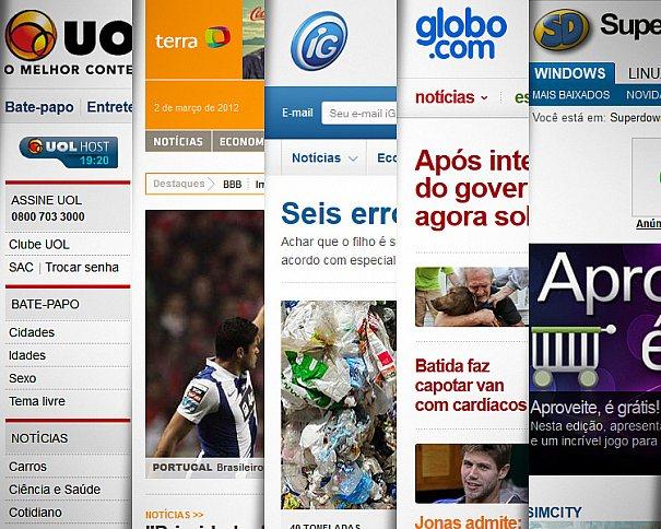 Principais portais de notícias e a evolução no desenvolvimento dos seus sites