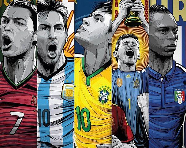 Cristiano Siqueira cria pôsteres das seleções da Copa do Mundo Fifa - Brasil 2014 para ESPN